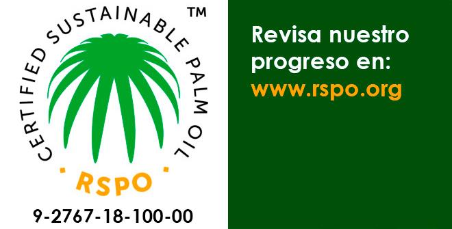 Certificado Aceite de Palma Sostenible en Ingles